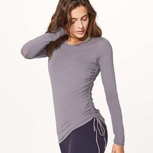 LULULEMON cinch it long sleeve tee 6 purple